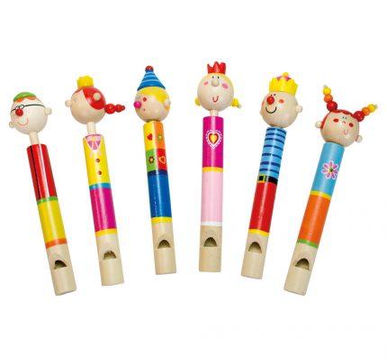 Dřevěné píšťalky pro děti