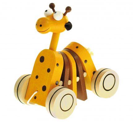 Dřevěné tahací hračky