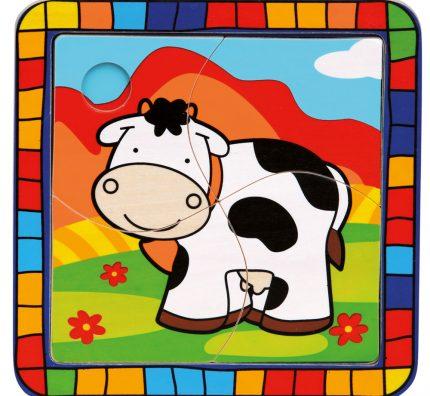 Dřevěné puzzle zvířátka