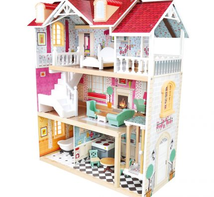 Dětské dřevěné domečky pro panenky